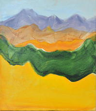 Artist: Caren Keyser, Artwork Title: Mountain Ranges, 2015-07-05. Painting Acrylic, Abstract Landscape, $262