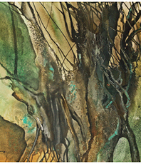 Artist: Walther Von Krenner, Artwork Title: Old Willow, 2016-02-04. Painting Acrylic, Abstract, $4,830