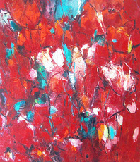 Artist: Harrie Sijbers, Artwork Title: Rose Garden, 2015-03-29. Painting Oil, Abstract, $4,410