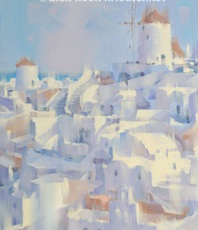 Artist: Alex Hook Krioutchkov, Artwork Title: Santorini, 2015-11-29. Painting Oil, Architecture, $1,260
