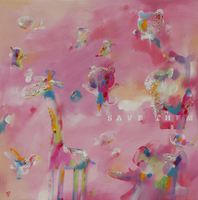 Xiaoyang Galas, Save Them, Abstract Figurative, $ 735
