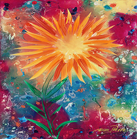 Jean Pierre Marques, Sunflower, Abstract, $ 945