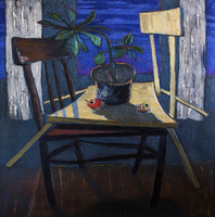 Artist: Arthur Harutyunov, Artwork Title: The Night, 2015-01-30. Painting Oil, Still Life, Request Price