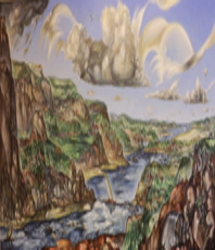 Artist: Austen Pinkerton, Artwork Title: The River, 2015-04-17. Painting Acrylic, Landscape, Request Price