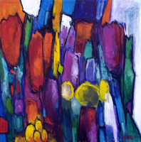 Artist: Harrie Sijbers, Artwork Title: Tulips From Holland, 2015-01-26. Painting Oil, Abstract, $3,255