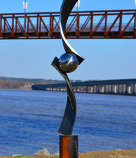 Artist: Hunter Brown, Artwork Title: Verve Iii, 2016-02-05. Sculpture Steel, Abstract, $6,300