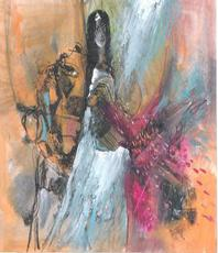 Artist: Mario Ortiz Martinez, Artwork Title: Water Queen, 2015-04-30. Mixed Media, Abstract Figurative, $52