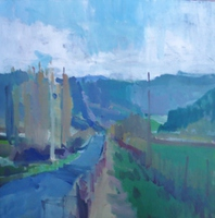 Artist: Jerry Ross, Artwork Title: Wilkins Road, 2015-02-25. Painting Oil, Landscape, $682