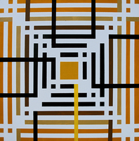 Anders Hingel, Yellow Maze , Abstract, $ 1,260