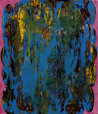 Artist: Dennis Jones, Artwork Title: Blue Heaven, 2015-03-23. Painting Acrylic, Abstract, Request Price