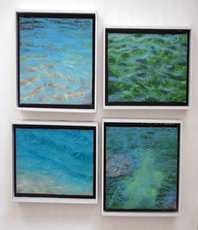 Artist: Edna Schonblum, Artwork Title: Four  Little Transparenci, 2015-05-03. Painting Oil, Seascape, $630