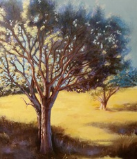 Artist: Manuela Facchin Varalda, Artwork Title: Golden Field, 2016-02-03. Painting Oil, Landscape, $1,522