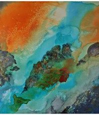 Artist: Walther Von Krenner, Artwork Title: Kilauea, 2018-09-18. Painting Acrylic, Abstract, $3,990