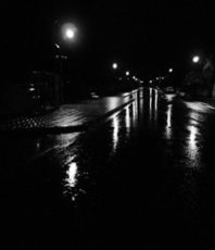 Artist: Einav Zilber, Artwork Title: Night, 2018-09-16. Photography Black and White, Abstract Landscape, $441