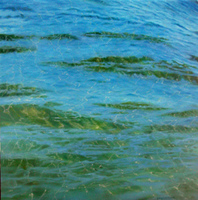 Artist: Edna Schonblum, Artwork Title: Transparencie  22, 2014-12-15. Painting Oil, Seascape, $682