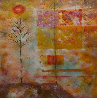 Matthew Thompson, Two Trees, Abstract, $ 5,250