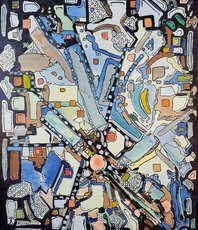 Artist: Dave Martsolf, Artwork Title: Urban Planning, 2018-09-15. Painting Oil, Abstract, $341