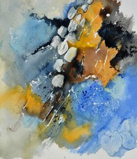 Artist: Pol Ledent, Artwork Title: Watercolor 516092, 2015-09-01. Watercolor, Landscape, $315