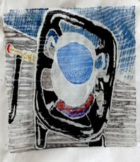 Artist: Tamar Sorkin, Artwork Title: Whiteline Woodcut, 2015-07-06. Printmaking Woodcut, Figurative, $105