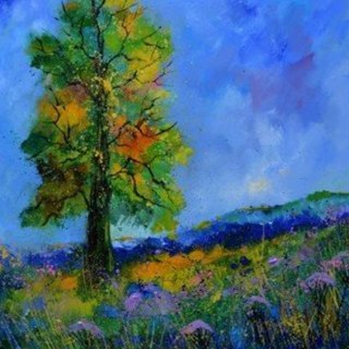 Pol Ledent, An Oak In Summer, Landscape, $945