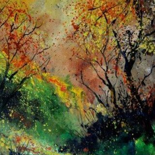Pol Ledent, Autumn Today, Abstract Figurative, $630