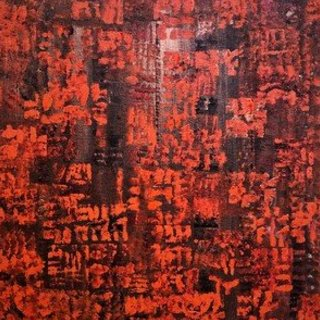Jim Lively, Burnt Orange Relevance, Abstract, $735