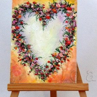 Valda Fitzpatrick, Flowers Into Heart, Floral, $23