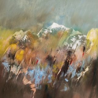 Nicholas Down, Giving Way To Spring, Abstract Landscape,  Request Price