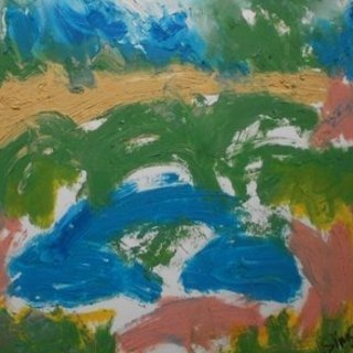 John Sims, Headscape, Abstract Landscape, $262