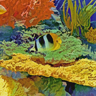 Lynda Lehmann, In The Coral Garden, Sea Life,  Request Price