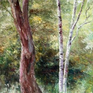 Vladimir Volosov, In The Thicket, Impressionism, $ 840