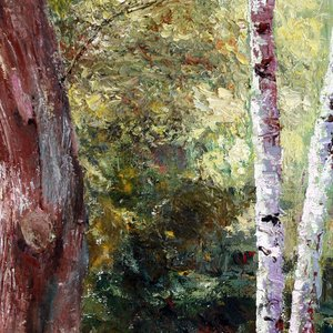 Vladimir Volosov, In The Thicket, Landscape, $ 840