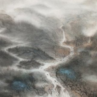 Grace Auyeung, Land Of Rivers 1, Abstract Landscape, $1,502