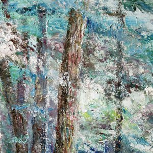 Vladimir Volosov, Landscape In Blue Tones, Abstract Landscape, $ 1,260