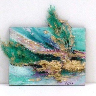 Valda Fitzpatrick, Miniature Abstract Eleven, Abstract, $ 25