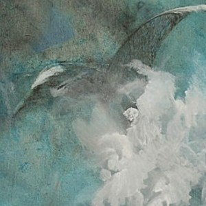 Emilio Merlina, On Winged Waves, Fantasy,  Request Price