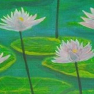 Denise Seyhun, Pink Water Lilies, Floral, $210