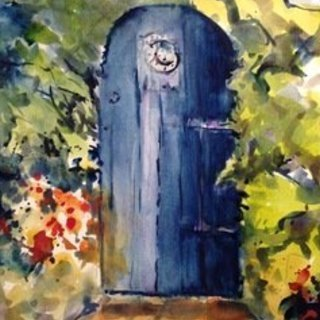 Daniel Clarke, The Blue Door Heart, Landscape, $292