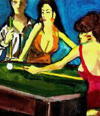 Harry Weisburd, 5 Ball In Corner Pocket , Figurative, $ 1,575