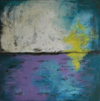 Veronica Vilsan, Australia At Night, Abstract Landscape, $ 461