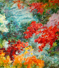 Vladimir Volosov, Colors Of Forest, Abstract Landscape, $ 315