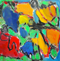 Engelina Zandstra, Composition 4027, Abstract Figurative, $ 682