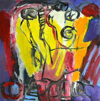 Engelina Zandstra, Composition 4034, Abstract Figurative, $ 630