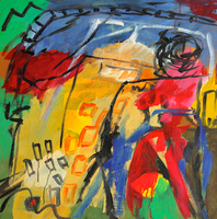 Engelina Zandstra, Composition 4072, Abstract Figurative, $ 1,260
