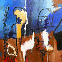 Engelina Zandstra, Composition 4093, Abstract Figurative, $ 1,575