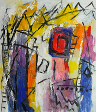 Engelina Zandstra, Composition 4105, Abstract Figurative, $ 1,522