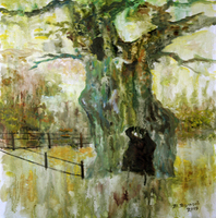 Vladimir Volosov, Crying Oak, Abstract Landscape, $ 2,100