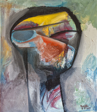 Raul Canestro Caballero, Head Of A Man , Abstract Figurative, $ 945