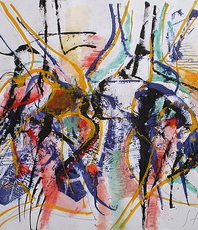 Stanislav Bojankov, Improvisation 9, Abstract Landscape, $ 368