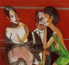 Artist: Harry Weisburd, Artwork Title: 2 Bar Flies and Man , Theme: Figurative
